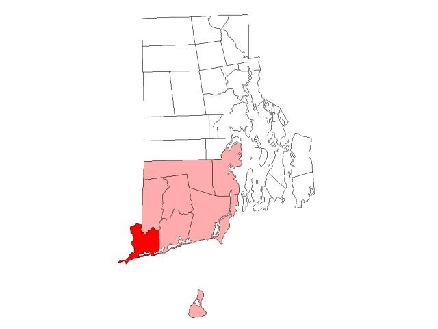 Westerly locator map