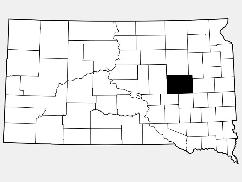 Beadle County locator map