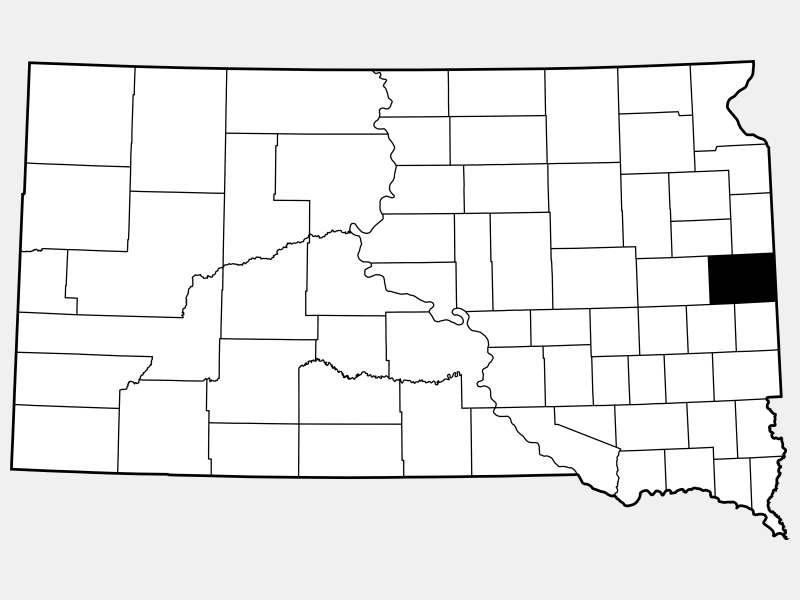Brookings County locator map