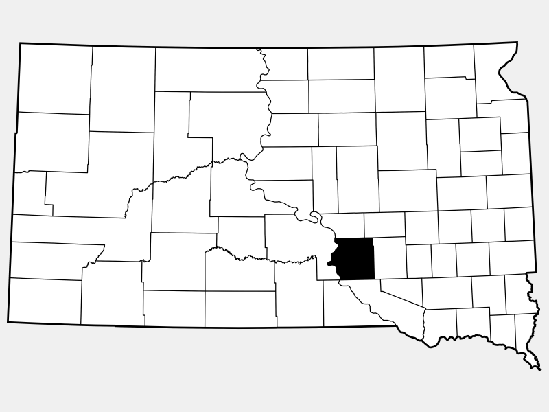 Brule County locator map