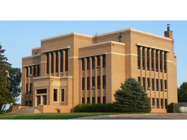 Charles Mix County courthouse from NW 6 image