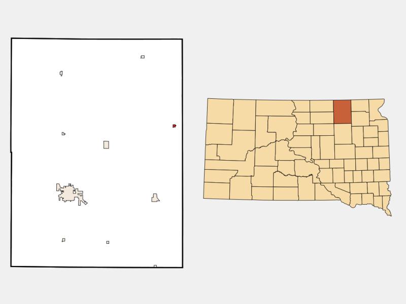 Claremont locator map