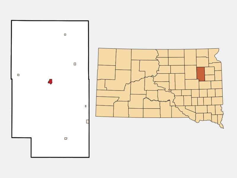 Clark locator map