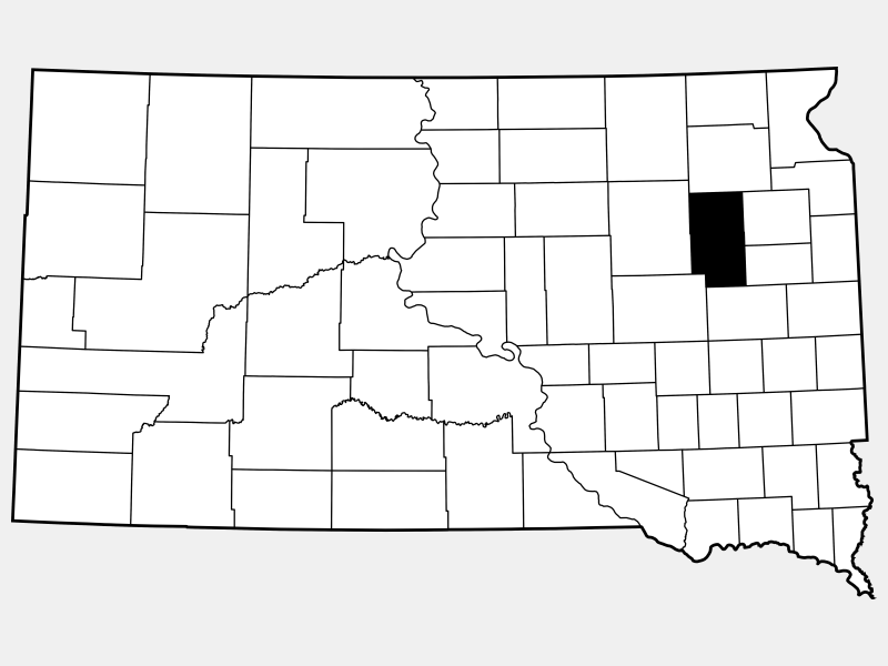 Clark County locator map