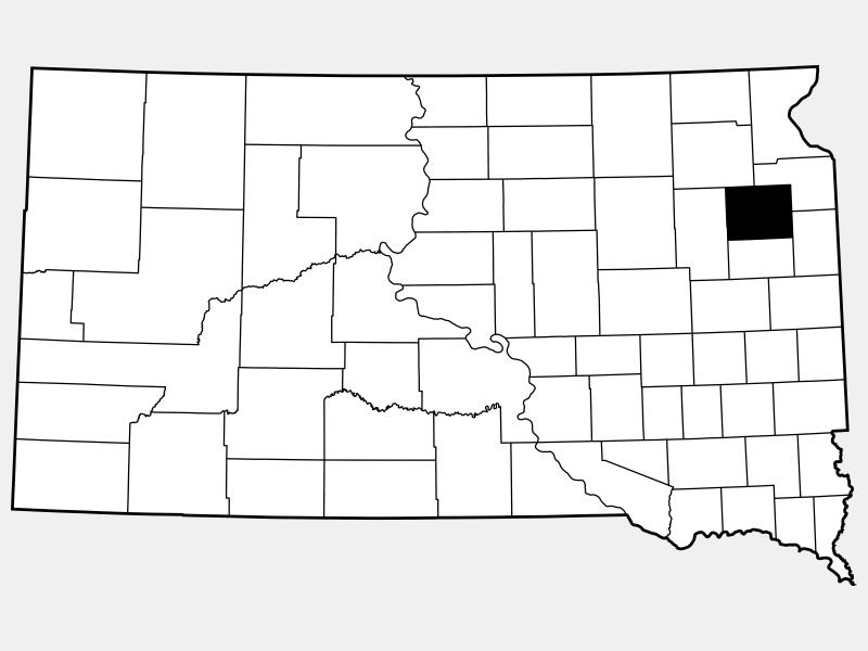 Codington County locator map