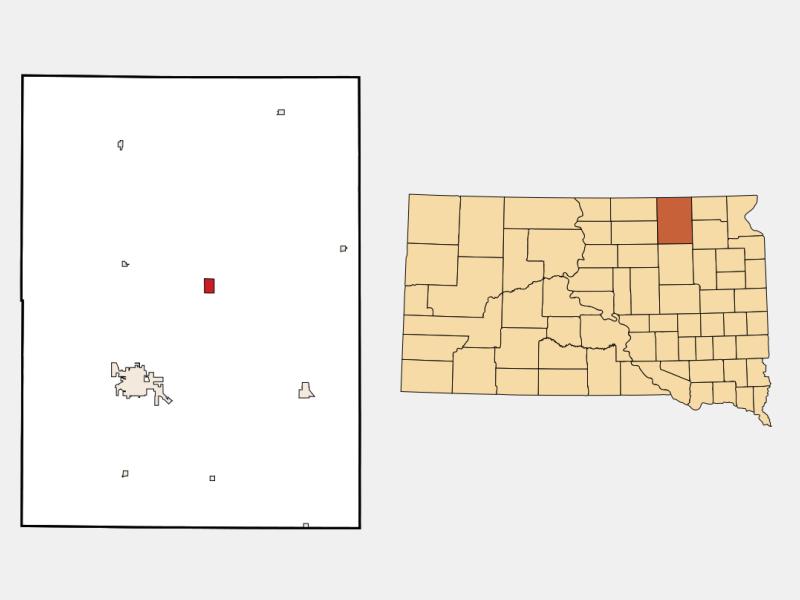 Columbia, SD locator map