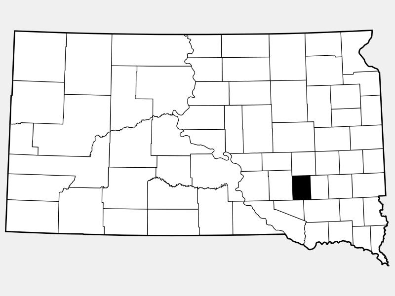 Davison County locator map