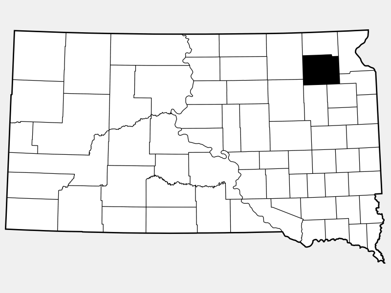 Day County locator map