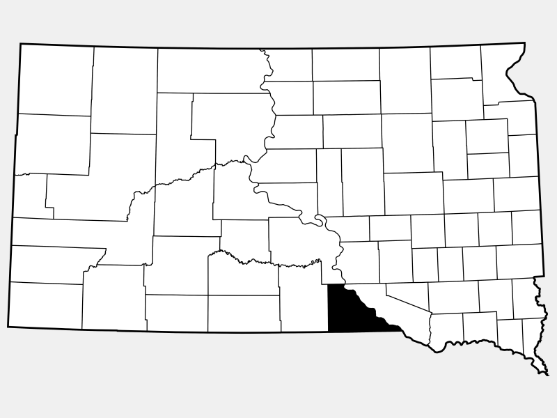 Gregory County locator map