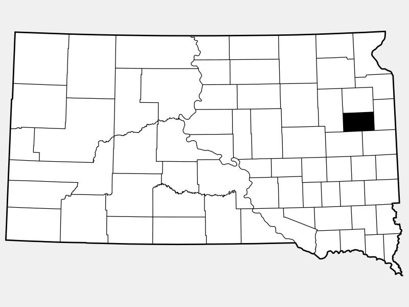 Hamlin County locator map
