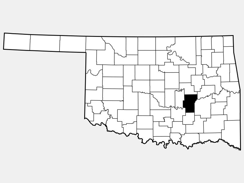 Hughes County locator map