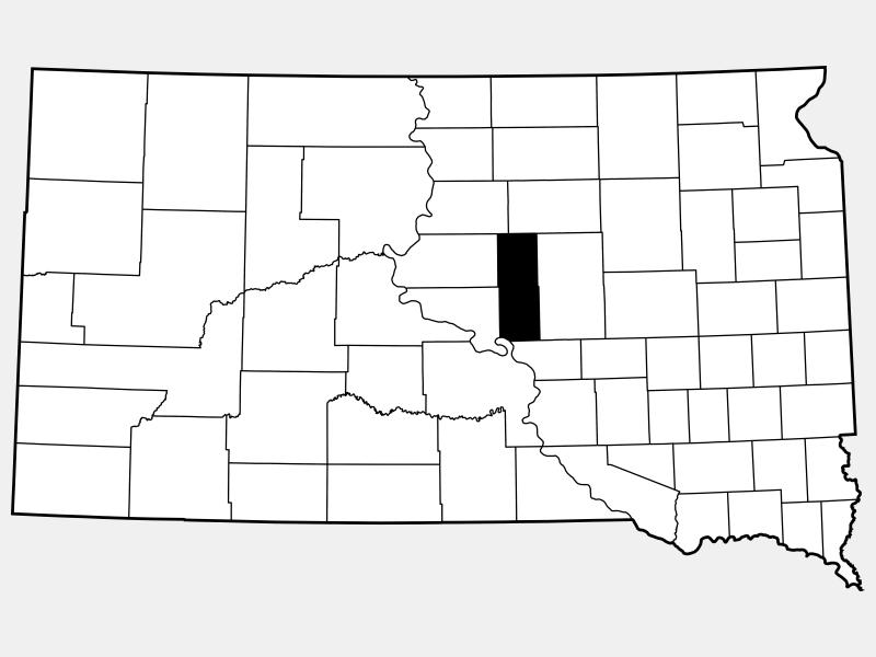 Hyde County locator map