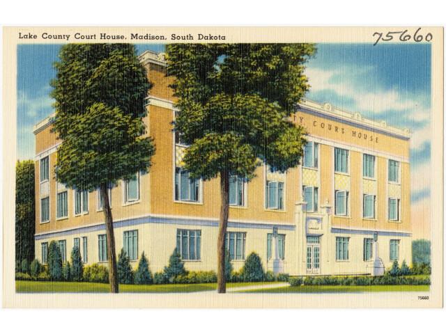 Lake County Court House  Madison  South Dakota '75660' image