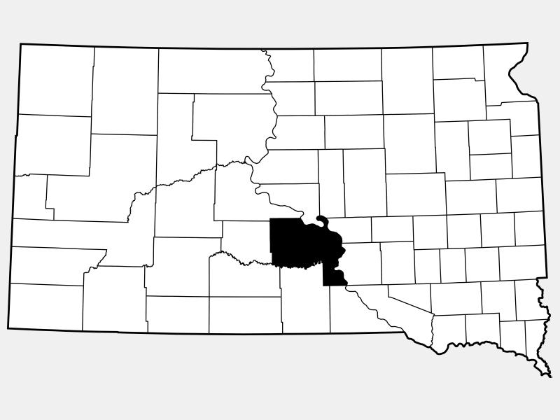 Lyman County locator map