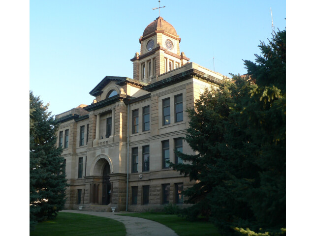 Marshall County  SD  courthouse from NW 1 image