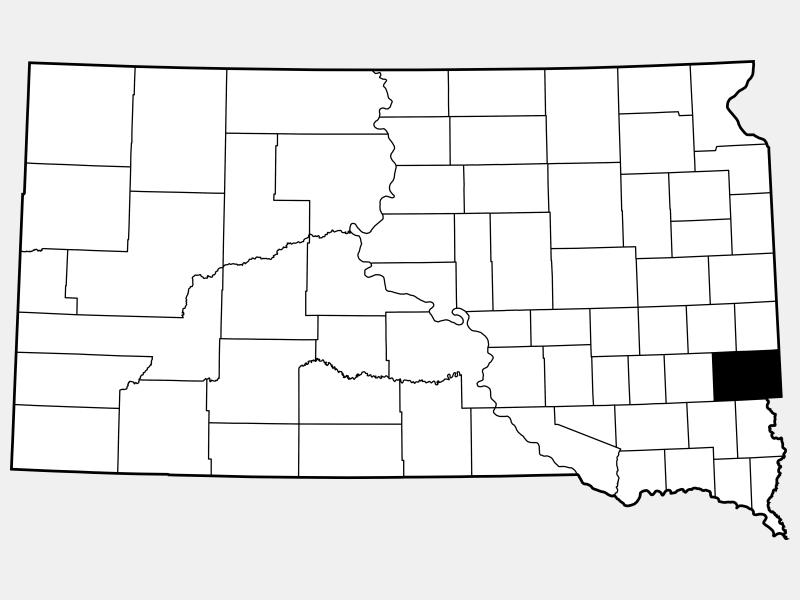 Minnehaha County locator map
