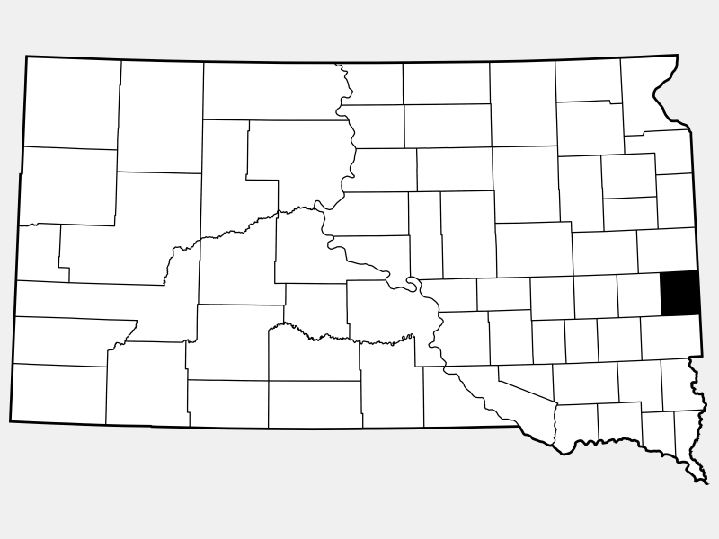 Moody County locator map