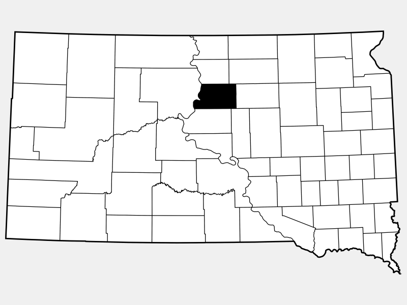 Potter County locator map