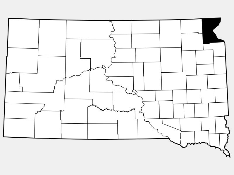 Roberts County locator map
