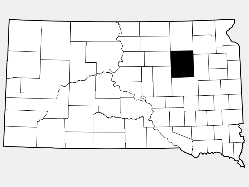 Spink County locator map