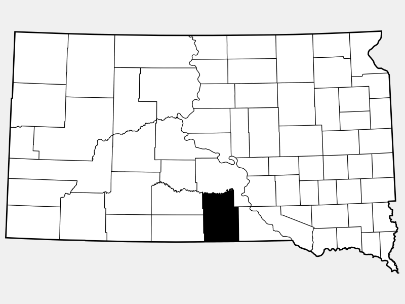 Tripp County locator map