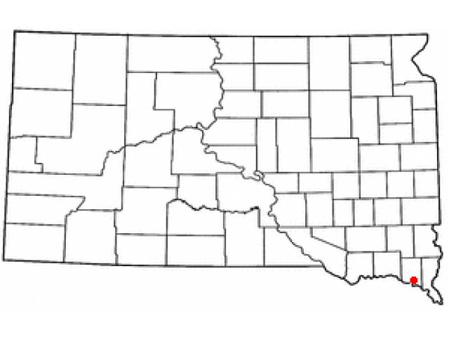 Vermillion location map