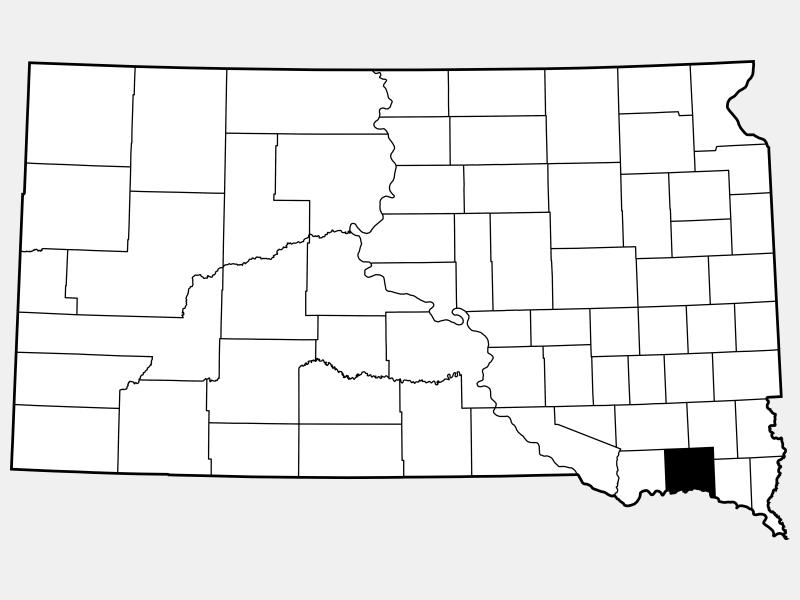 Yankton County locator map
