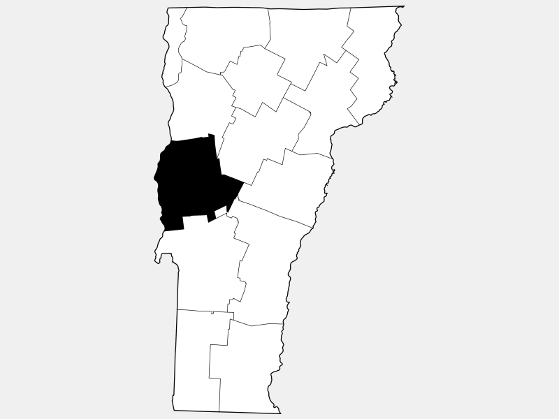 Addison County locator map