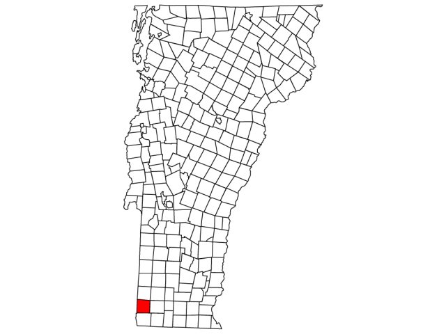 Bennington locator map