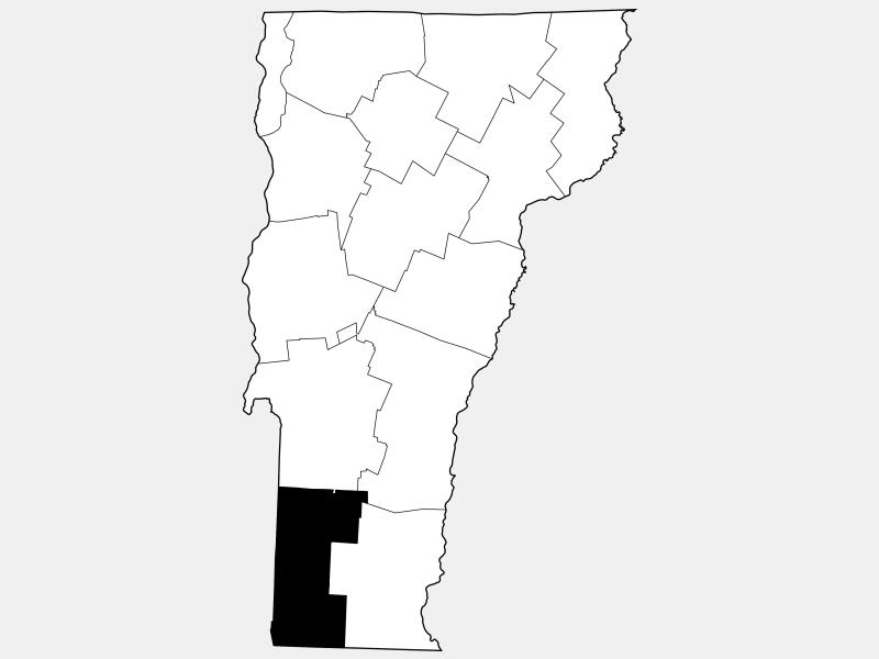 Bennington County locator map