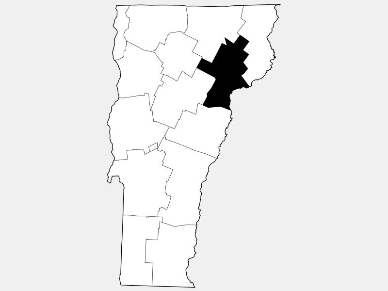 Caledonia County locator map