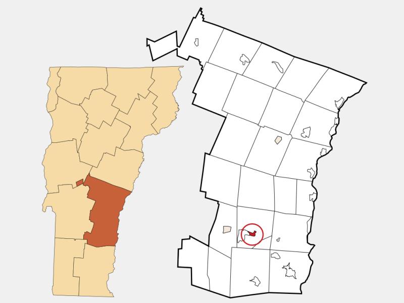 Cavendish locator map