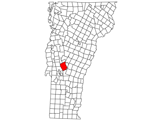 Chittenden locator map
