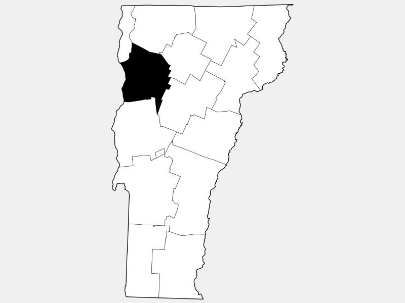 Chittenden County locator map
