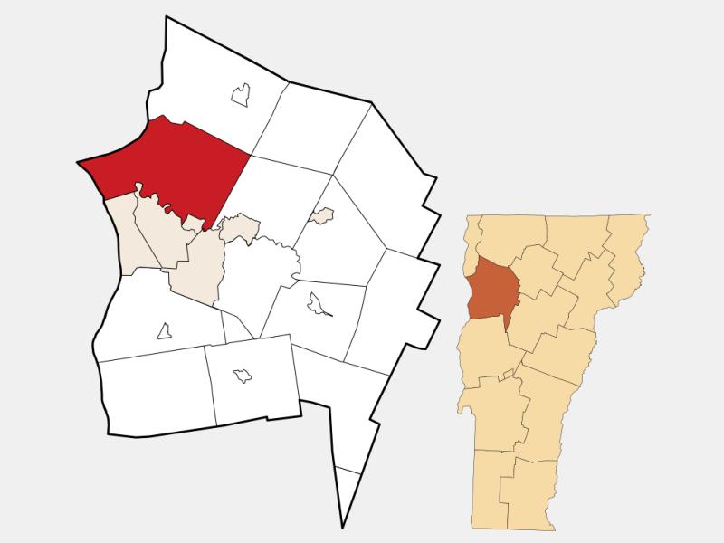 Colchester locator map