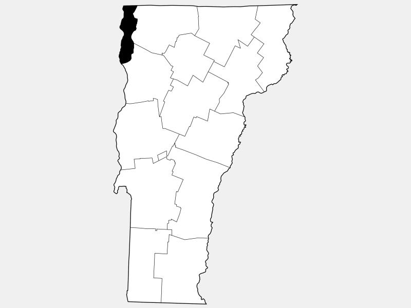 Grand Isle County locator map