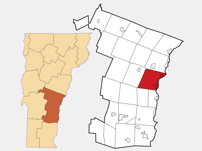 Hartland locator map