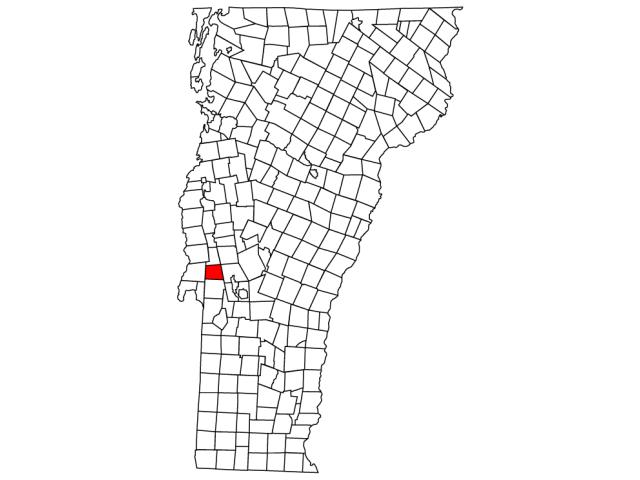 Hubbardton locator map