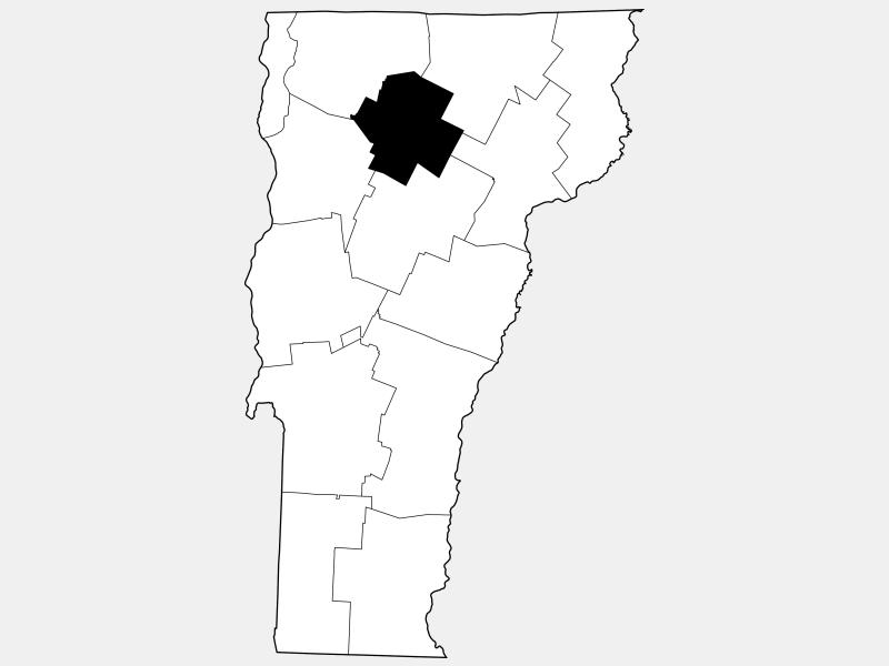 Lamoille County locator map