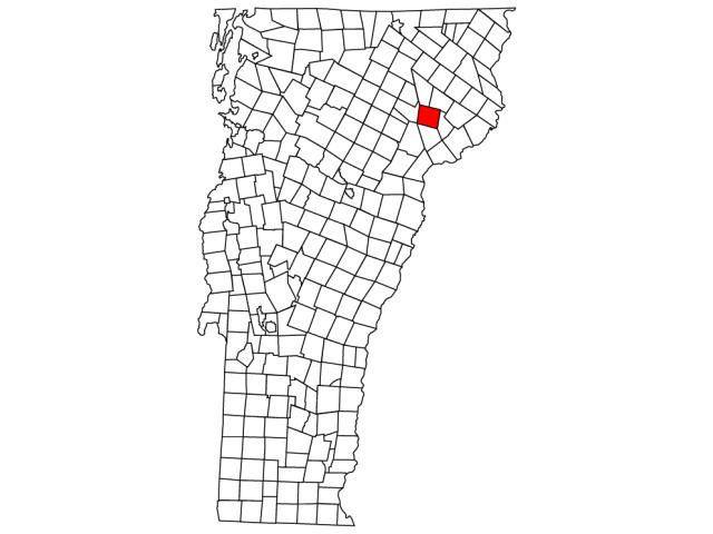 Lyndon location map