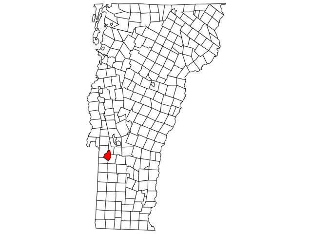 Middletown Springs locator map