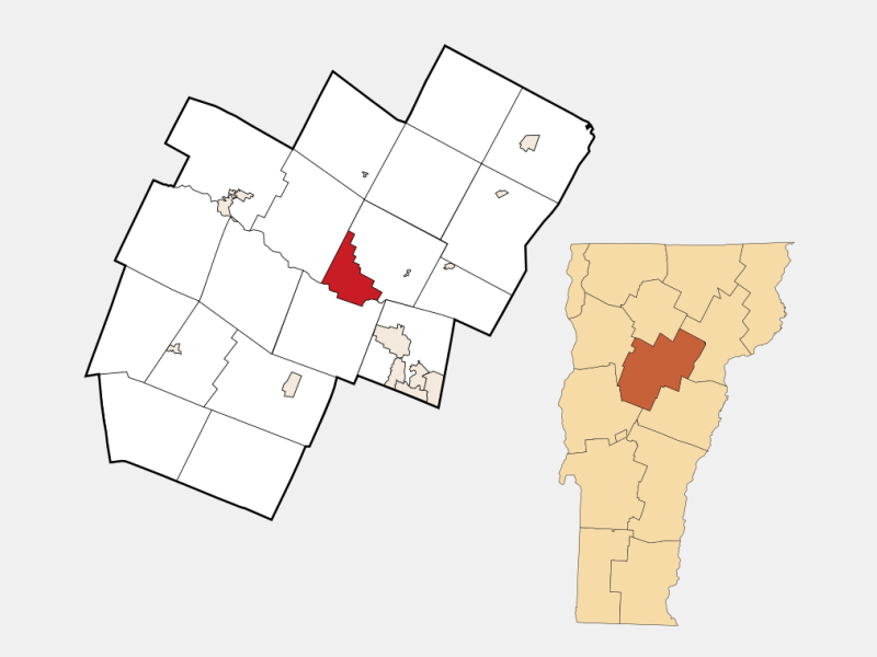 Montpelier locator map