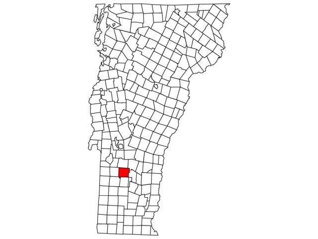 Mount Tabor locator map