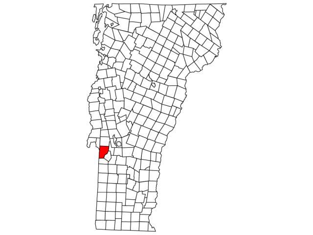 Poultney locator map