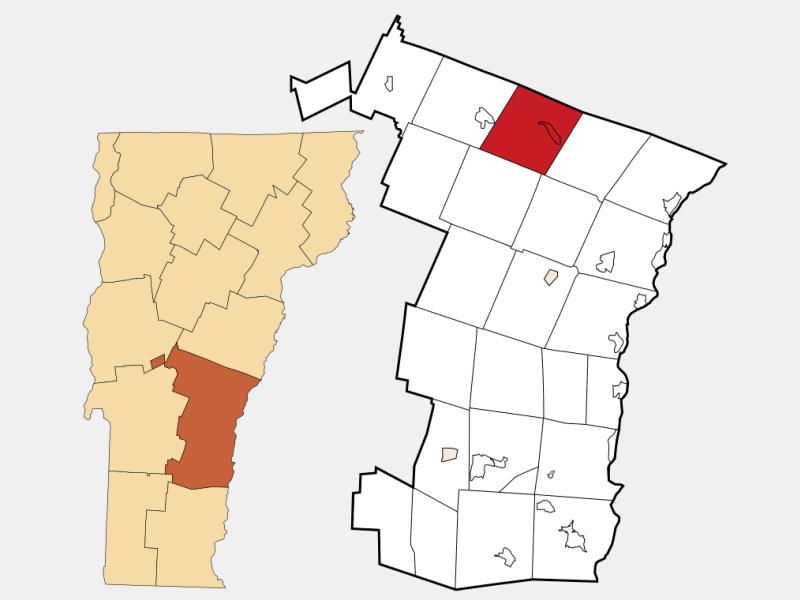 Royalton locator map