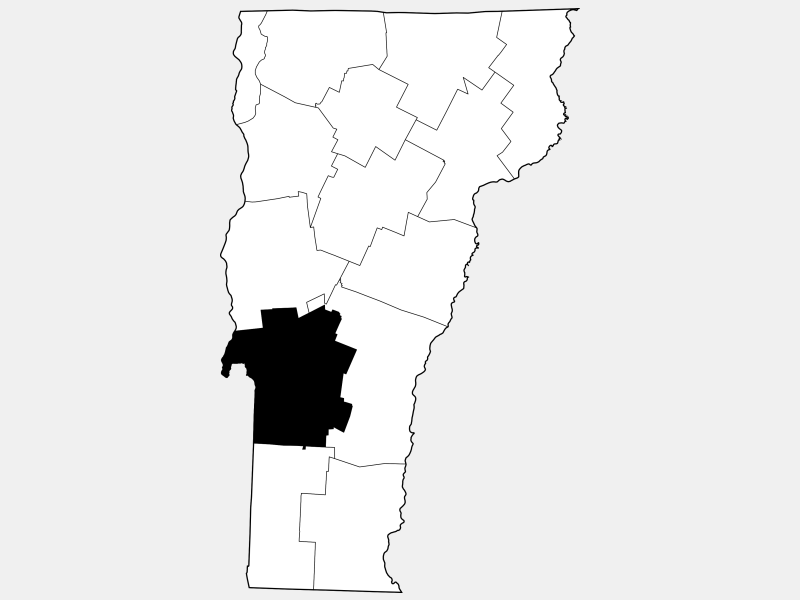 Rutland County locator map