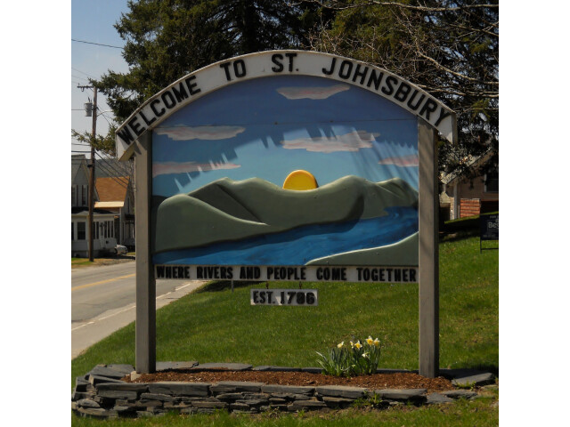 St Johnsbury Welcome Sign image