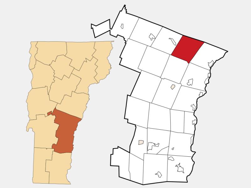 Sharon locator map