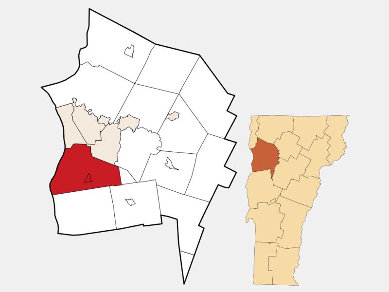 Shelburne locator map