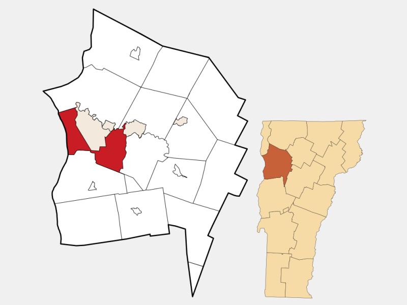 South Burlington locator map